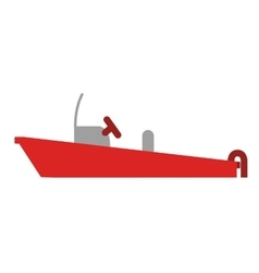 Color silhouette with rescue boat vector