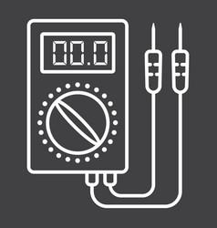 Digital multimeter line icon build and repair vector