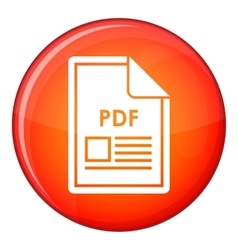 File pdf icon flat style vector