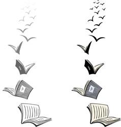 Flying books vector