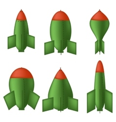 Green Bombs vector image