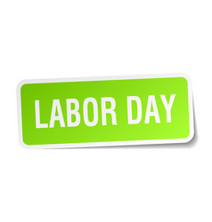 Labor day square sticker on white vector