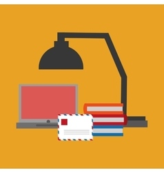 laptop office related items icon vector image