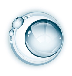 Large water droplet with rings vector