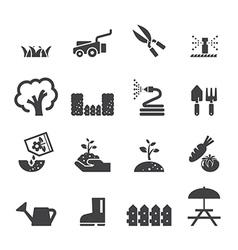 lawn icon set vector image vector image