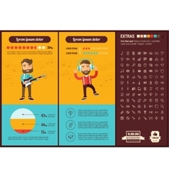 Music flat design Infographic Template vector image