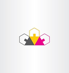 neighborhood houses icon design vector image