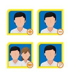 Person Avatar Icon Symbol Design vector image