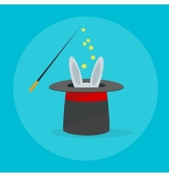 Rabbit in a Magic Hat vector image