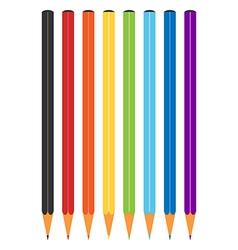 Rainbow multicolor color pencils vector image vector image