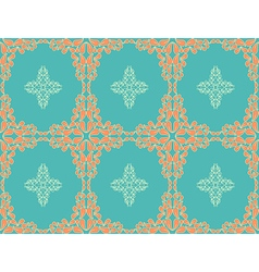 Retro seamless flower pattern vector image vector image