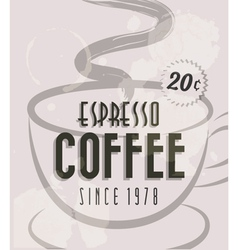 Retro Vintage Coffee Tin Sign vector image