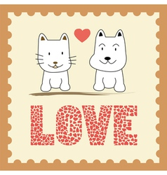 Romantic card12 vector image