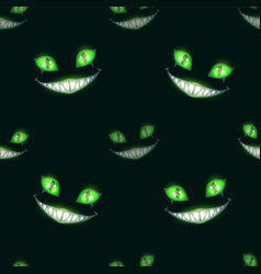 Seamless pattern with scary monster faces vector