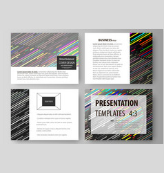 set of business templates for presentation slides vector image