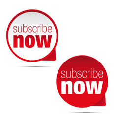 subscribe now button sign vector image vector image