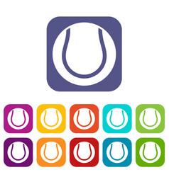 tennis ball icons set vector image vector image