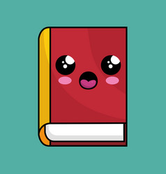 Text book school character kawaii vector