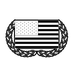 United states flag with double half crown of olive vector