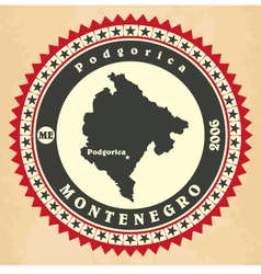Vintage label-sticker cards of Montenegro vector image vector image