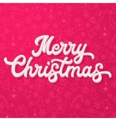 White 3d xmas lettering on pink xmas background vector
