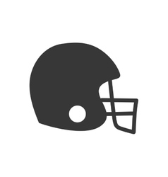 american football helmet sport game icon vector image