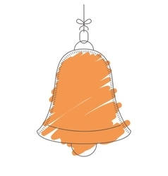 Silhouette bell vector