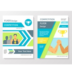 Sports competition flyer template vector