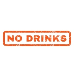 No drinks rubber stamp vector