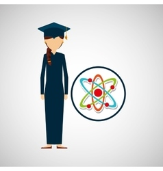 Graduate student girl physics vector