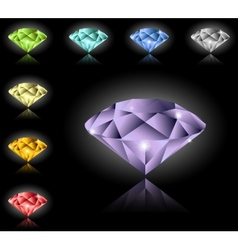 Jewels and diamonds set vector image