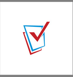 square check list logo vector image