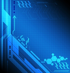 Blue digital technology background vector