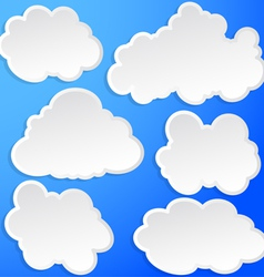 Set of clouds in the sky vector