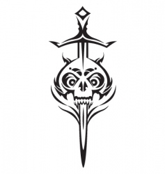 skull and sword vector image