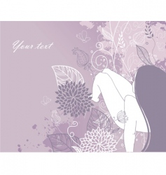 woman floral vector image
