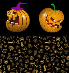 Halloween in cartoon style vector