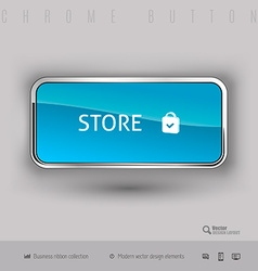 Chrome button with color plastic inside vector