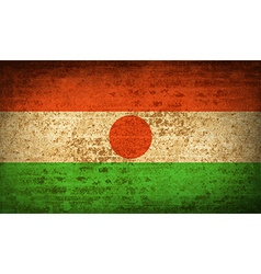 Flags niger with dirty paper texture vector