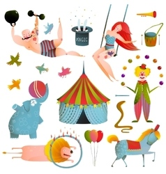 Circus carnival show clip art vintage collection vector