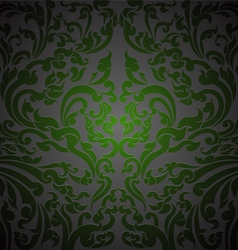 Green floral art vector