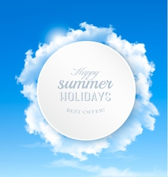 Summer background with blue sky and clouds vector