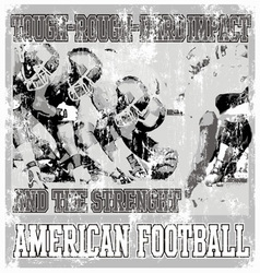 Tough rough american football crack vector