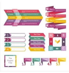 Abstract infographics isolated element set vector image