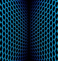 Abstract wavy net with hex cells vector