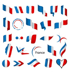 Biggest collection of flags of France vector image vector image