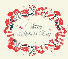 Blossom into mothers day postcard vintage vector