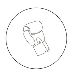 Boxing glove icon outline single sport icon from vector
