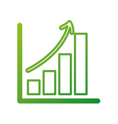 business growth bar graph finance increase vector image