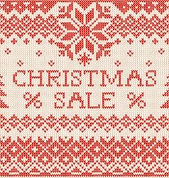 Christmas sale scandinavian or russian style vector